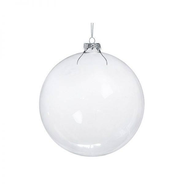 Bombka szklana bańka przezroczysta 10 cm
