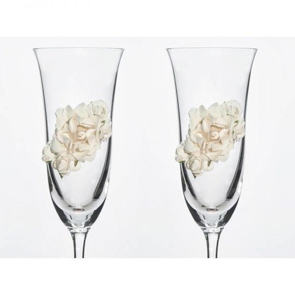 Kieliszki do szampana ślubne wzór 4