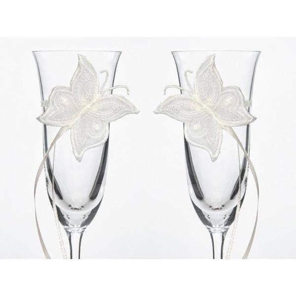 Kieliszki do szampana ślubne Kolekcja Piękne Serce wzór 5