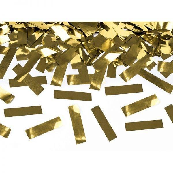 Tuba strzelająca złotym konfetti 40 cm