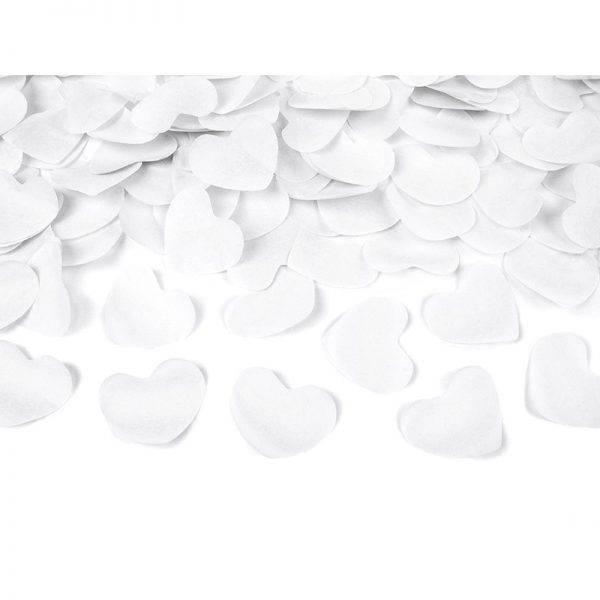 Tuba strzelająca białe serca 40 cm