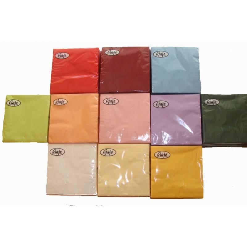 Serwetki składane trójwarstwowe 20 szt kolory