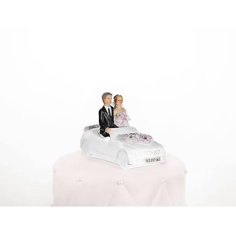 Figurka na tort Para Młoda na motorze