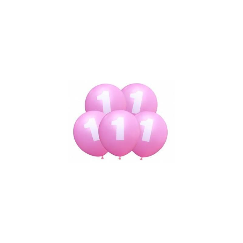 Balony urodzinowe 1 niebieskie balon