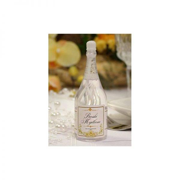 Bańki mydlane w kształcie butelki szampana