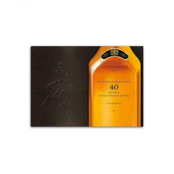 Zaproszenie na urodziny 30 tka Johnnie Walker's
