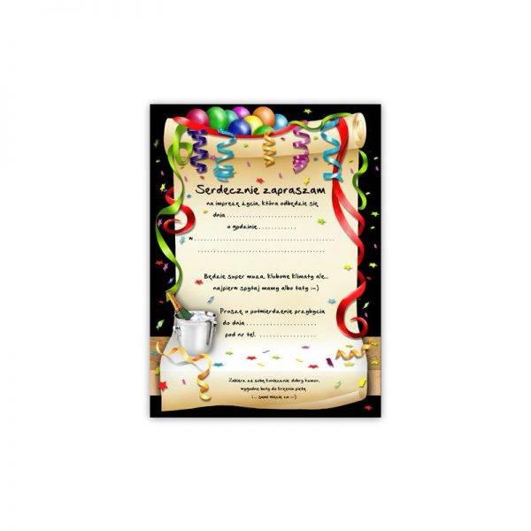 Zaproszenie na urodziny 18 stka wzór 1