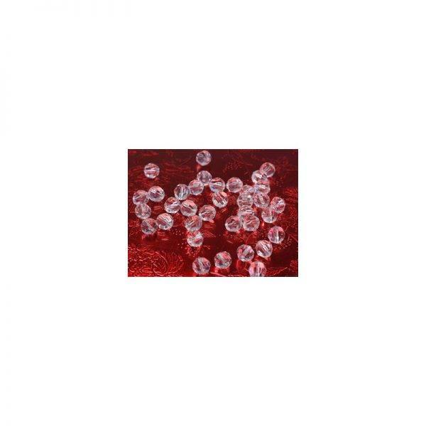 Kryształowe koraliki z dziurką bezbarwne