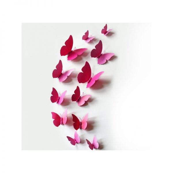 Motylki 3D z PCV na magnesie lub taśmie dwustronnej