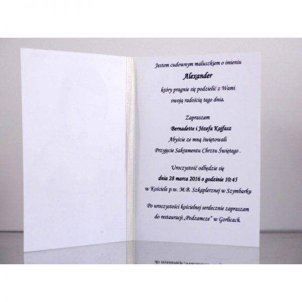 Zaproszenie ślubne zaproszenia na wesele Wzór 124