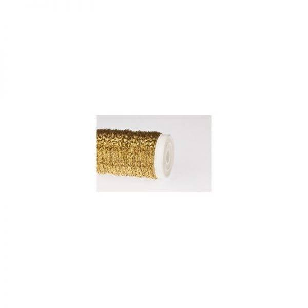 Drut na szpulce PROSTY drucik złoty lub srebrny prosty