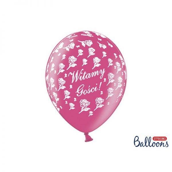 Balony pastelowe WITAMY GOŚCI PRZEZROCZYSTE