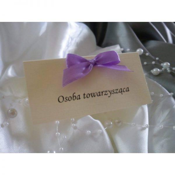 Winietki dla gości PERSONALIZOWANE z kokardką 6 sztuk