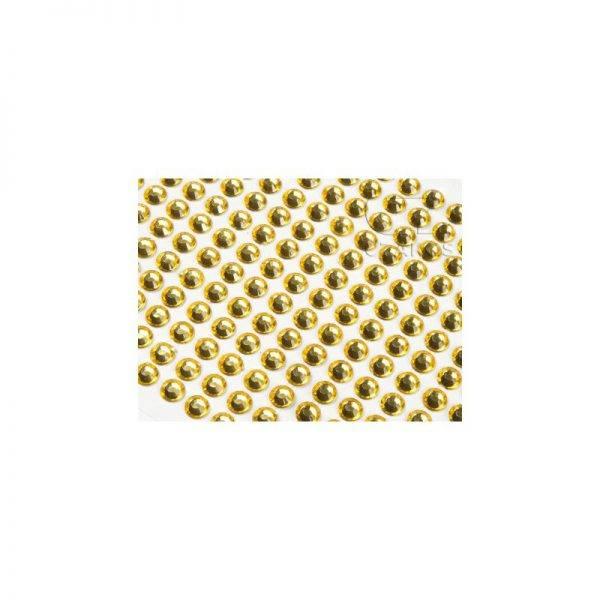 Dżety samoprzylepne 8 mm 120 szt kryształki przylepne