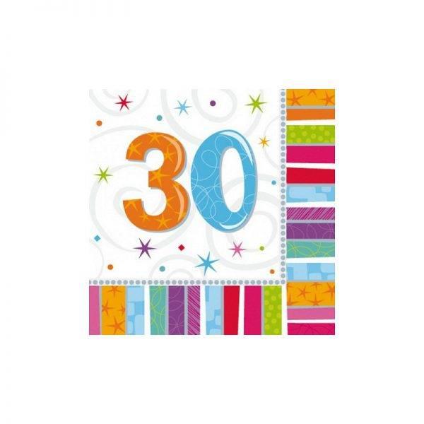 Serwetki urodzinowe liczby 18 stka