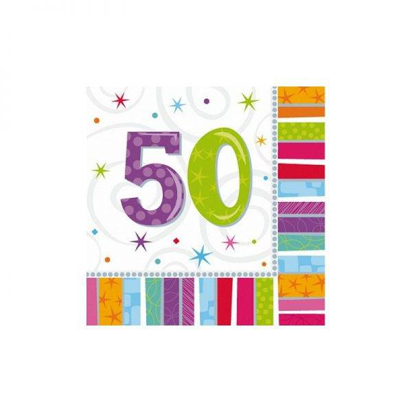 Serwetki urodzinowe liczby 30