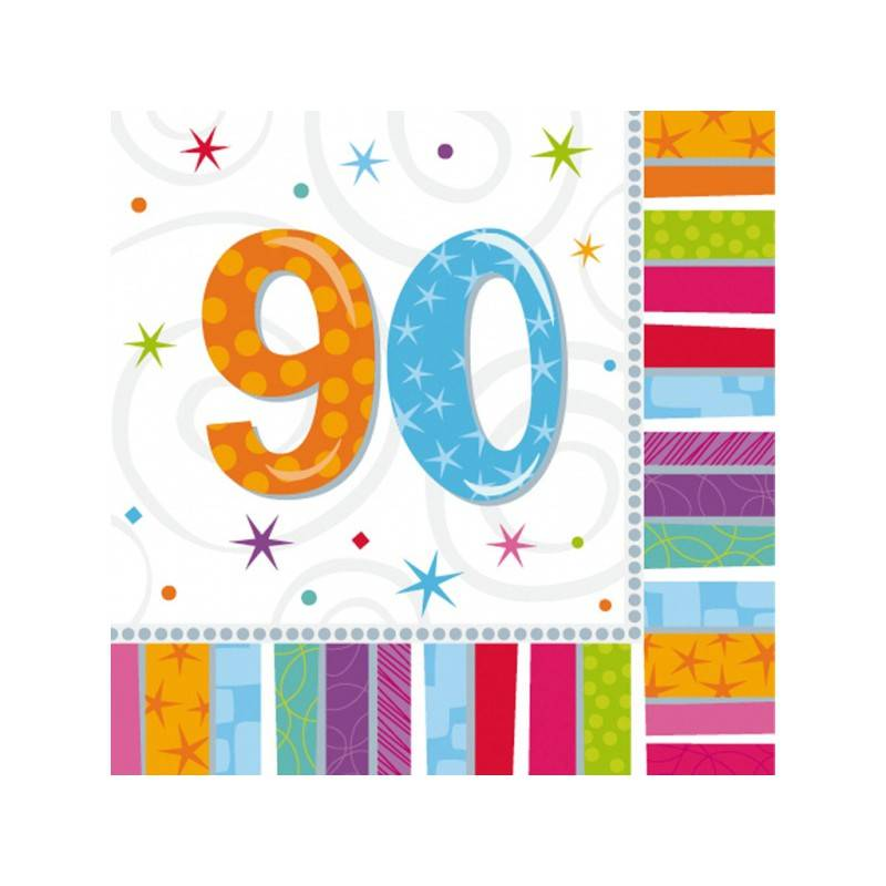 Serwetki urodzinowe liczby 70