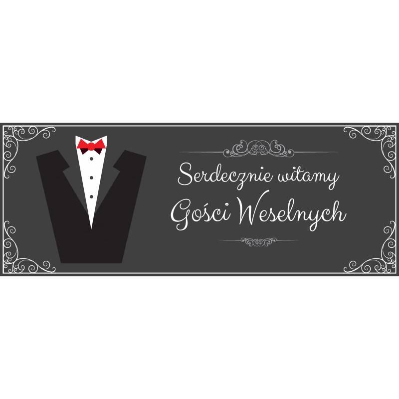 Plakat MEGA Witamy Pana Młodego i Gości weselnych