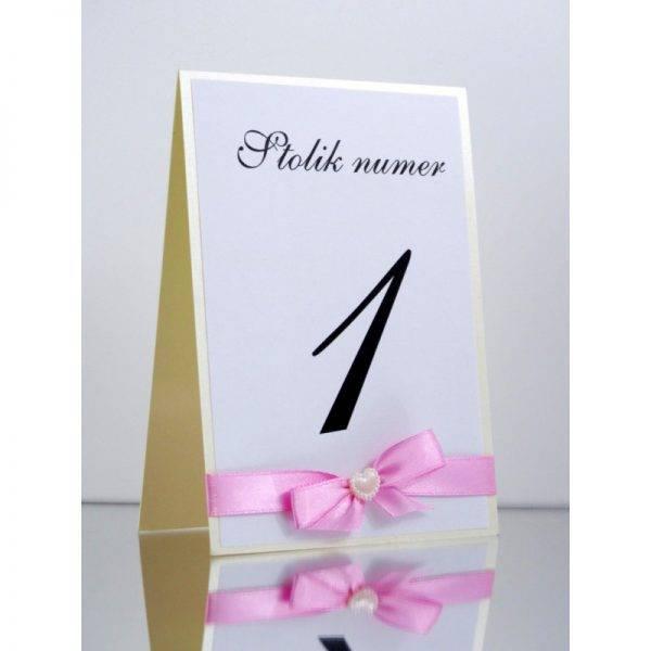 Numer stolika numeracja stołów Wzór 6