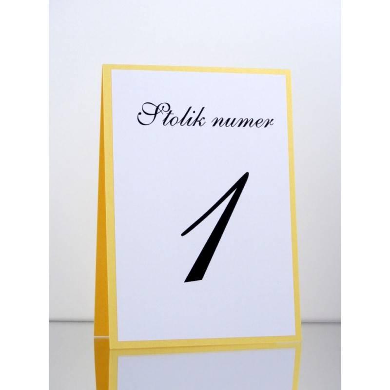 Numer stolika numeracja stołów Wzór 9