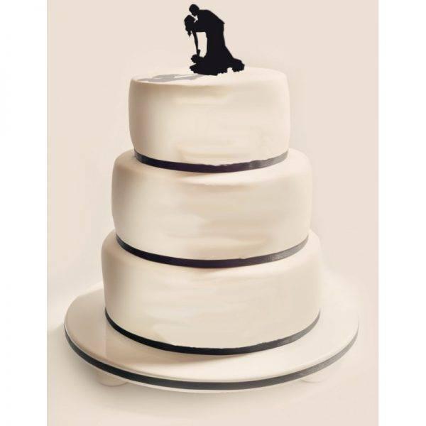 Figurka na tort z PLEXI czarna Wzór 2