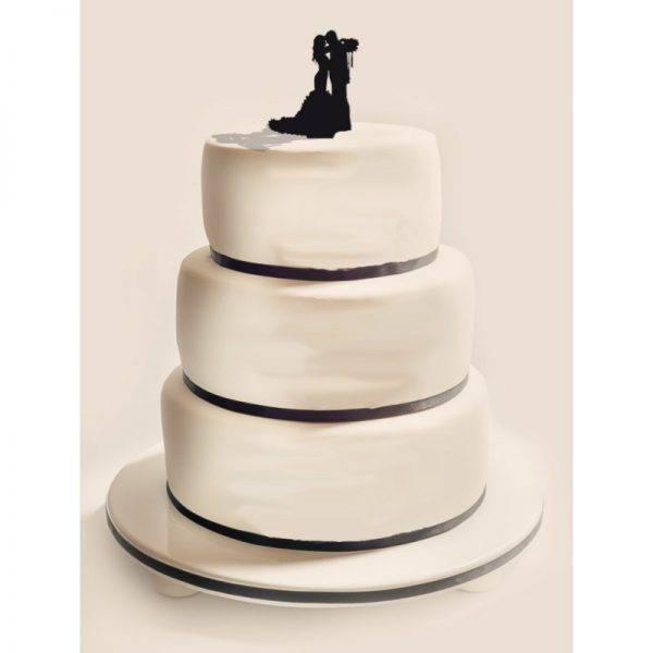 Figurka na tort z PLEXI czarna Wzór 4