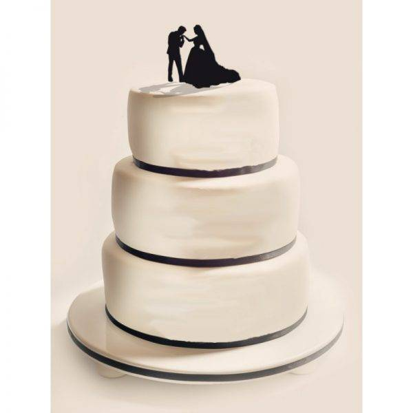 Figurka na tort z PLEXI czarna Wzór 5