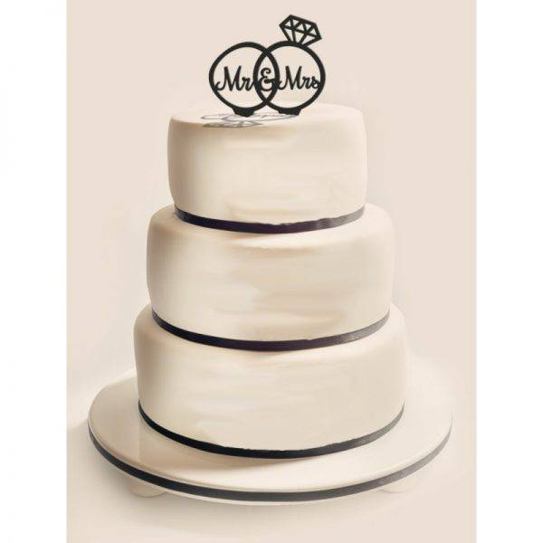 Figurka na tort z PLEXI czarna Wzór 10