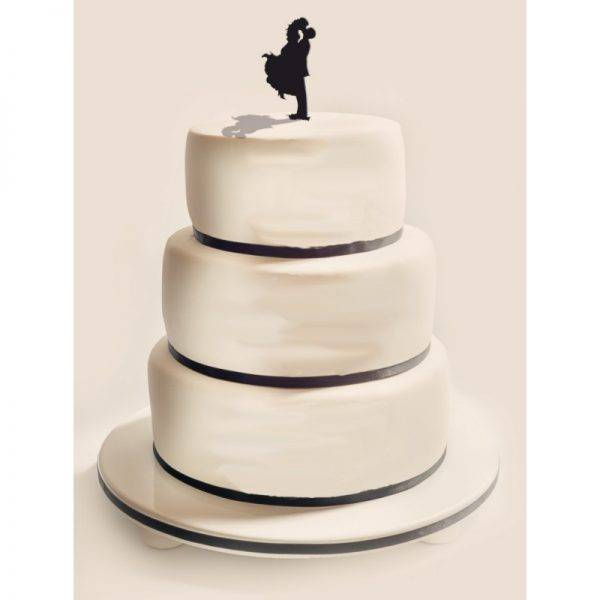 Figurka na tort z PLEXI czarna Wzór 14