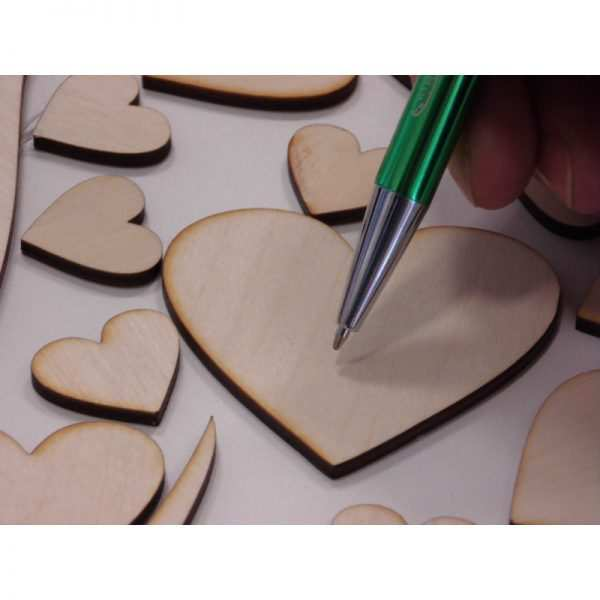 Plakat księga gości serce drewniane ze sklejki