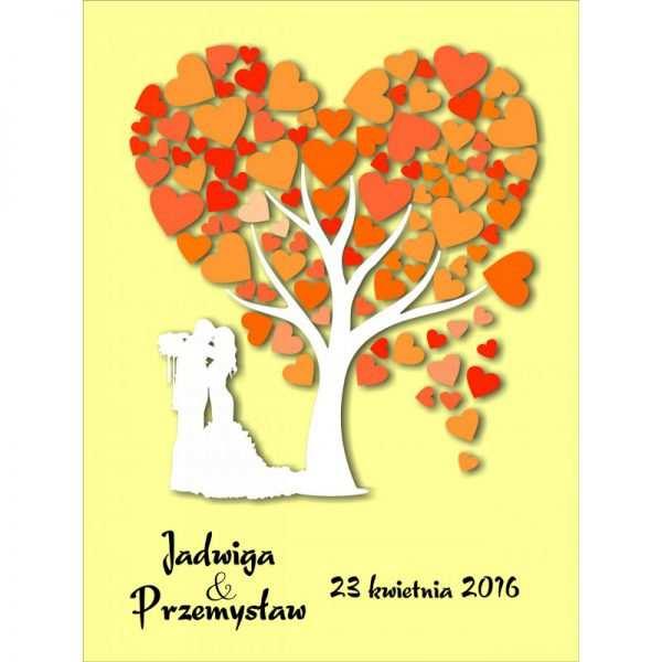 Drzewo plakat księga gości na płótnie nadruk wzór 2
