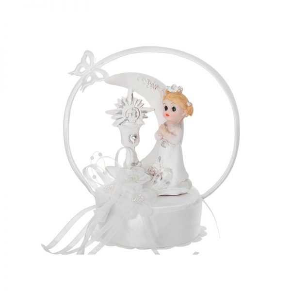 Zdobiona Figurka na tort komunijny dziewczynka