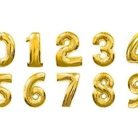 Balon foliowy MEGA 90cm wszystkie 1-9 złota