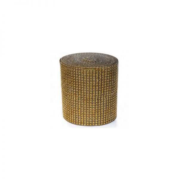 Taśma ozdobna cyrkonie 12 cm aplikacja na taśmie