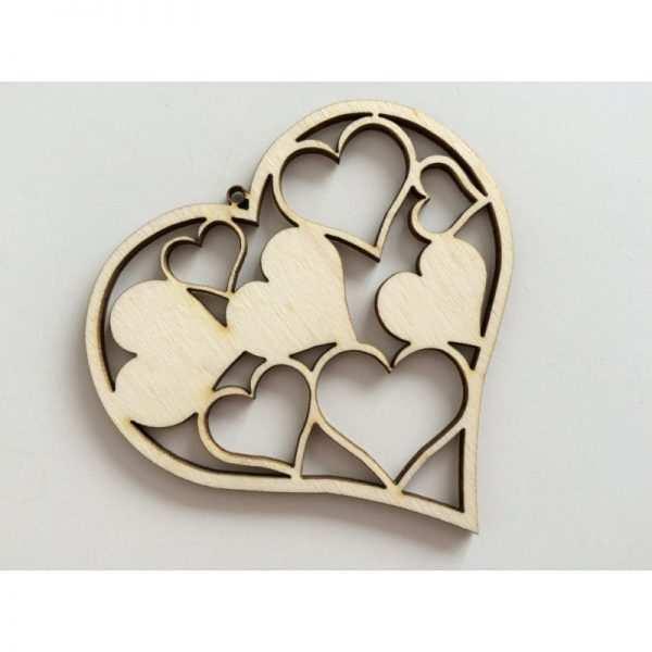 Serce ażurowe ze sklejki serduszko wycinane laserowo