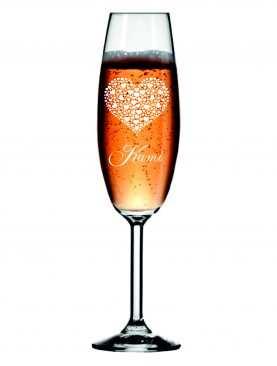 Kieliszek z grawerem grawerowane kieliszki do szampana WZÓR 1