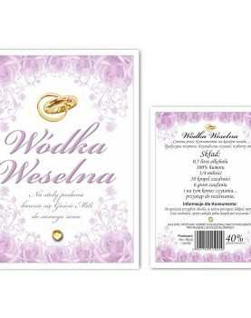 Naklejka dwustronna etykieta samoprzylepna na alkohol 50 szt WZÓR 7