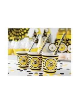 Kubeczki urodzinowe 6 sztuk Kolekcja Pszczółka
