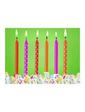 Świeczki urodzinowe na tort 6 sztuk