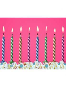 Magiczne niegasnące Świeczki urodzinowe na tort 10 sztuk