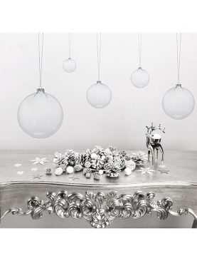 Bombka szklana bańka przezroczysta 8 cm