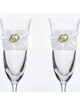 Kieliszki do szampana ślubne kolekcja Bajkowy Ogród wzór 4