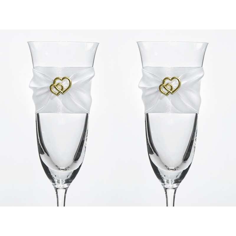 c71ecbe8d7 Kieliszki do szampana ślubne kolekcja Bajkowy Ogród wzór 4 - Dekorak