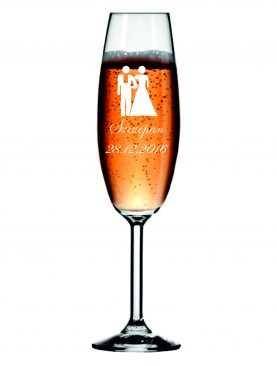 Kieliszek z grawerem grawerowane kieliszki do szampana WZÓR 8