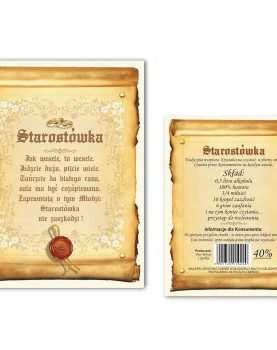 Naklejka dwustronna etykieta samoprzylepna na alkohol 50 szt WZÓR 9