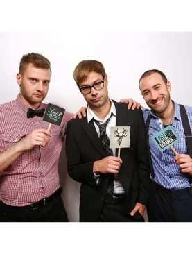 Karteczki na patyczku Team Groom do sesji zdjęciowej