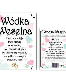 Naklejka dwustronna etykieta samoprzylepna na alkohol 50 szt WZÓR 10