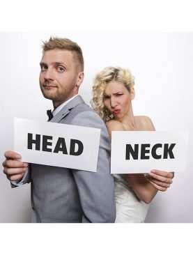 Tabliczki karteczki do sesji zdjęciowej Head & Neck