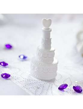 Bańki mydlane w kształcie torcika z serduszkiem 24 szt