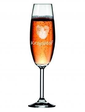 Kieliszek z grawerem grawerowane kieliszki do szampana WZÓR 10